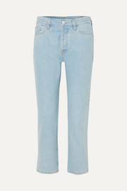 Goldsign The Low Slung cropped mid-rise straight-leg jeans