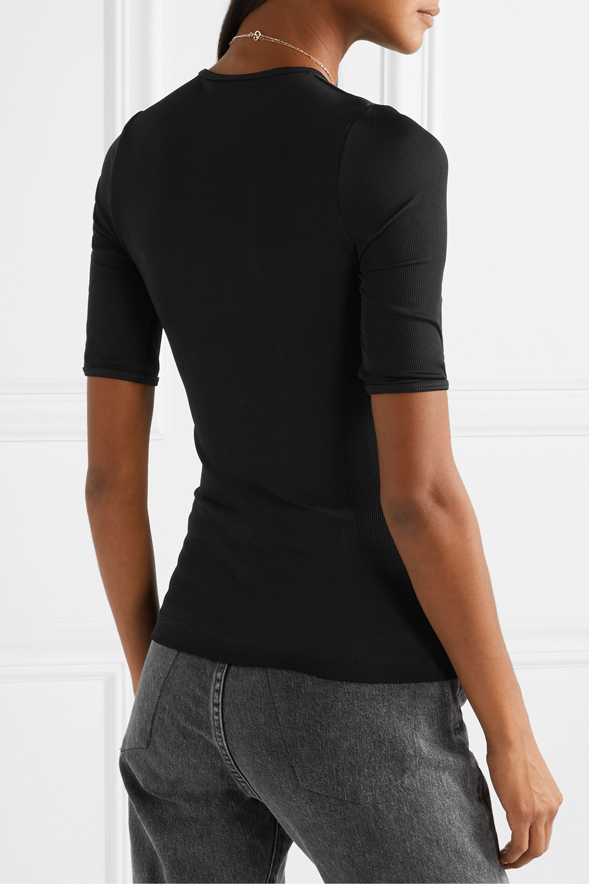 GOLDSIGN The Bound ribbed stretch-jersey T-shirt
