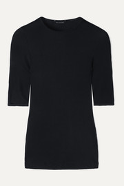 The Bound ribbed stretch-jersey T-shirt