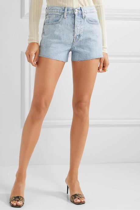 Farrah frayed denim shorts