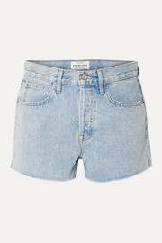 Farrah frayed denim shorts