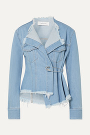 Marques' Almeida Asymmetric frayed denim jacket
