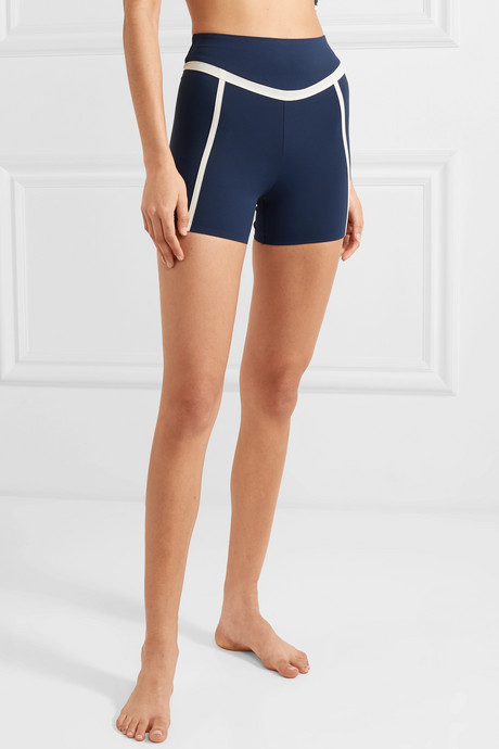 Chloe paneled stretch shorts