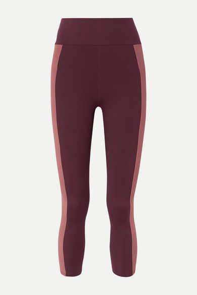 Therese Two Tone Stretch Leggings by Ernest Leoty