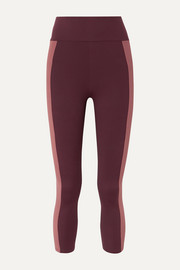 Therese two-tone stretch leggings
