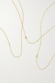 Initial 14-karat gold pearl necklace