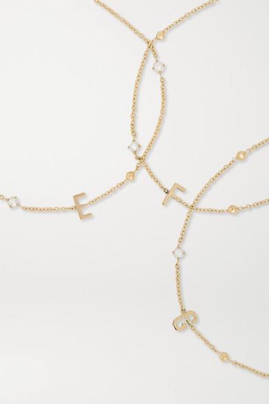 7d681e1c520e32 STONE AND STRAND | Initial 14-karat gold pearl bracelet | NET-A-PORTER.COM
