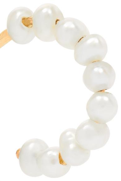 052ef645b Catbird. Pearl hoop earrings. £146. Exclusive. Zoom In