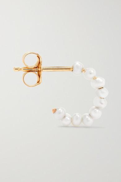 eaefbf004 Catbird   Pearl hoop earrings   NET-A-PORTER.COM
