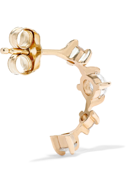 Catbird Snow Queen 14-karat gold diamond hoop earring