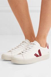 + NET SUSTAIN Campo leather sneakers