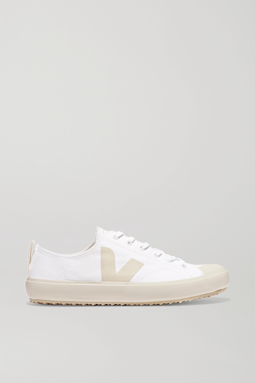 Veja + Net Sustain Nova Organic Cotton-canvas Sneakers In White