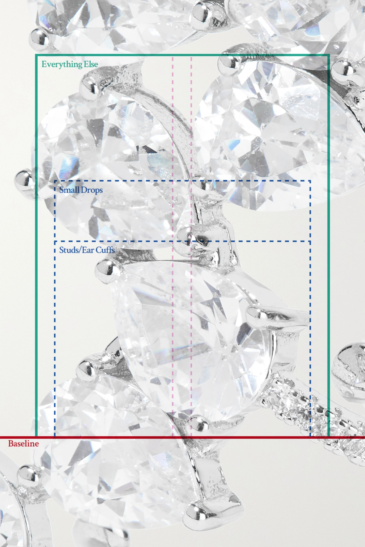 Kenneth Jay Lane Silver-tone cubic zirconia earrings