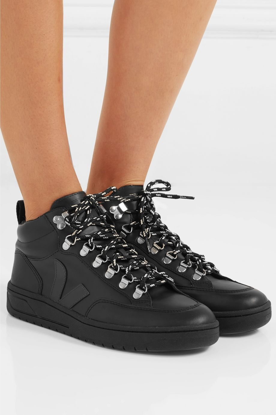 Veja + NET SUSTAIN Roraima leather high-top sneakers