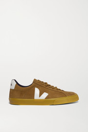 Veja + NET SUSTAIN Esplar leather-trimmed suede sneakers