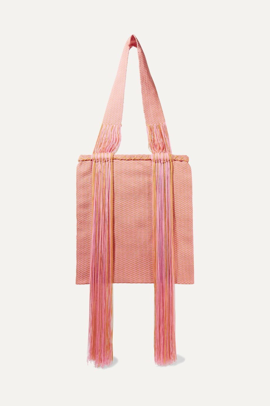 Sophie Anderson Joss fringed woven tote
