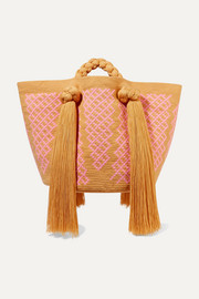 Sophie Anderson Eve tasseled woven tote