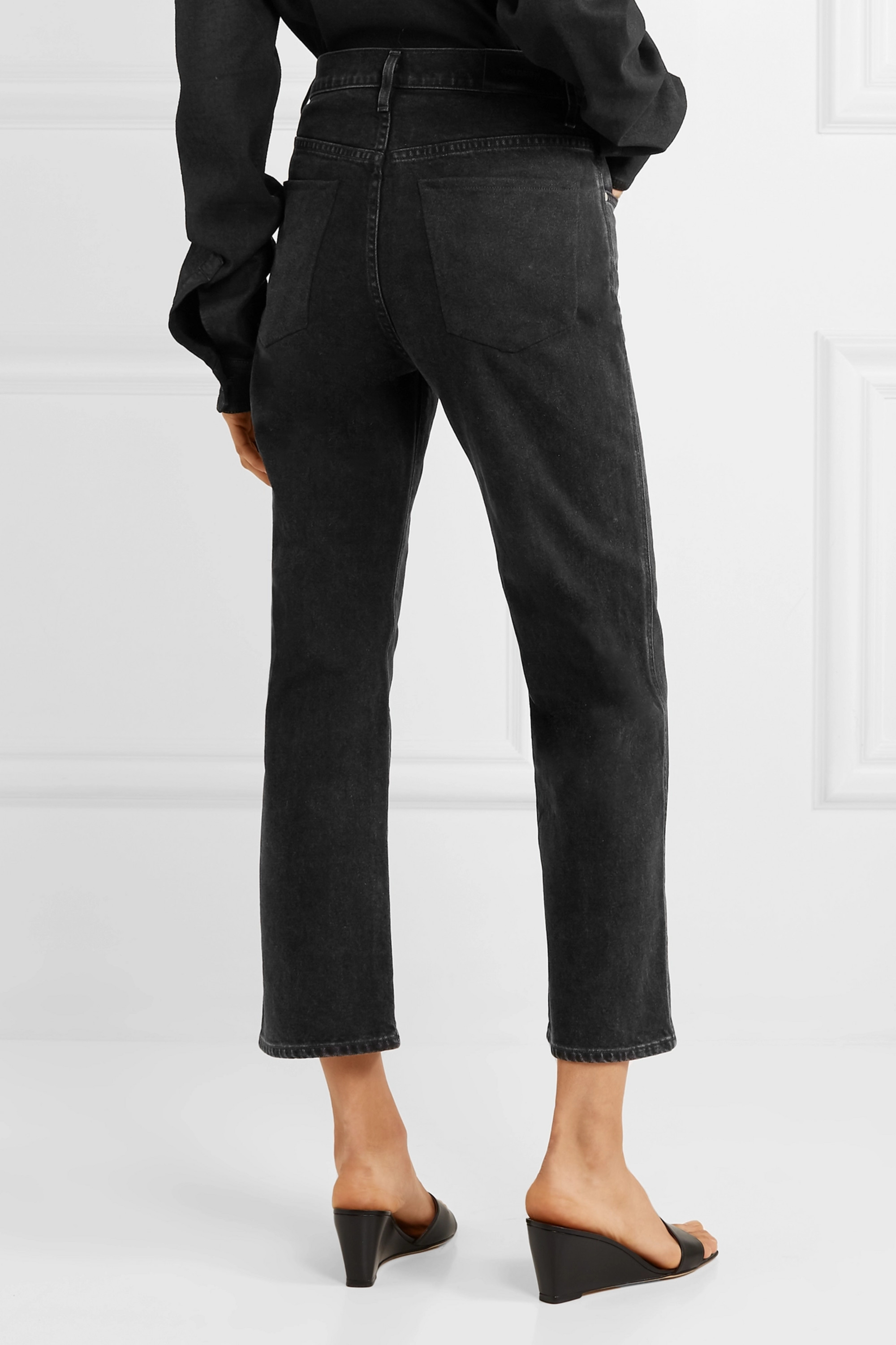 GOLDSIGN Jean droit taille haute The Cropped A