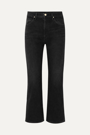 The Cropped A high-rise straight-leg jeans