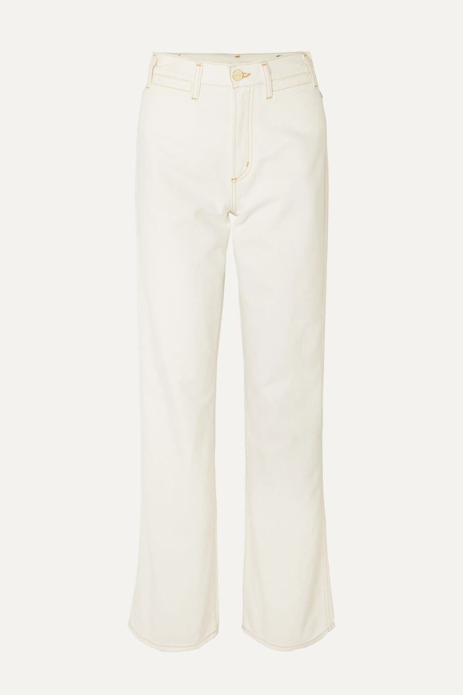 GOLDSIGN High-rise wide-leg jeans