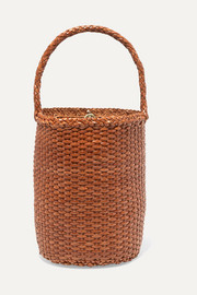 Dragon Diffusion B Weave Bucket small woven leather tote