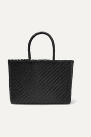 Basket big woven leather tote