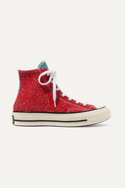 Converse + JW Anderson Chuck Taylor All Star 70 glittered canvas high-top sneakers