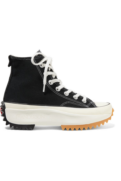+ JW Anderson Run Star Hike canvas high-top sneakers