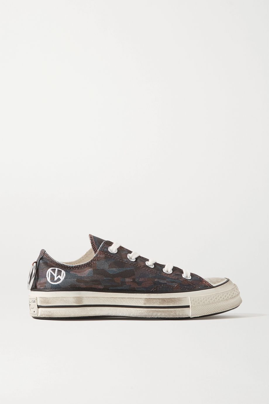 Converse + Undercover Chuck Taylor All Star 70 embellished camouflage-print canvas sneakers