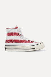 Converse + JW Anderson Chuck Taylor All Star 70 logo-print canvas high-top sneakers