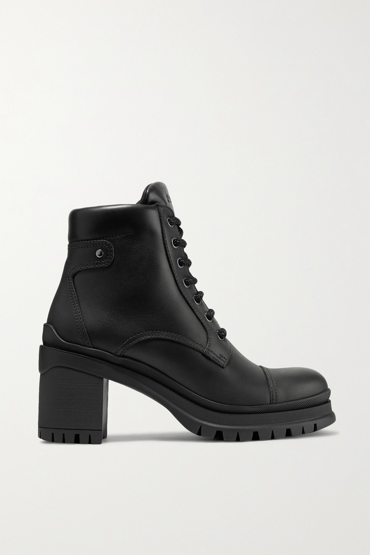Black 55 leather ankle boots | Prada