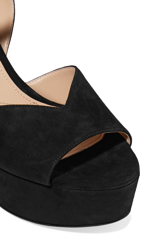 Black 105 Suede Platform Sandals | Prada