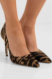 100 leopard-print calf hair pumps