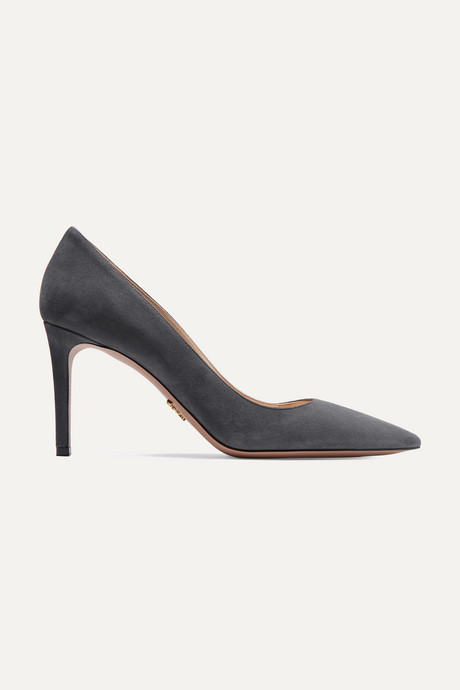 Anthracite 85 suede pumps | Prada jfE2f4