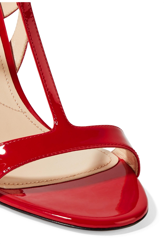 Prada 90 patent-leather slingback sandals