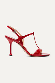 Prada 90 patent-leather slingback sandals