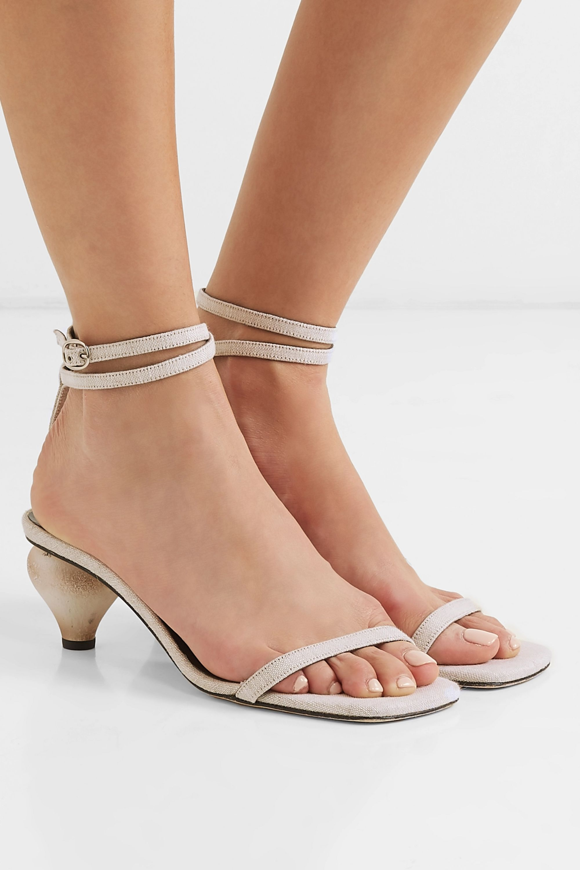 BY FAR Mari linen sandals