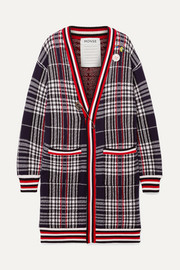 Monse Oversized embellished checked wool cardigan