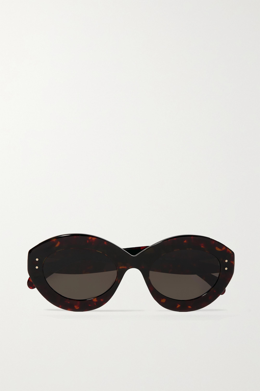 Alaïa Round-frame tortoiseshell acetate sunglasses