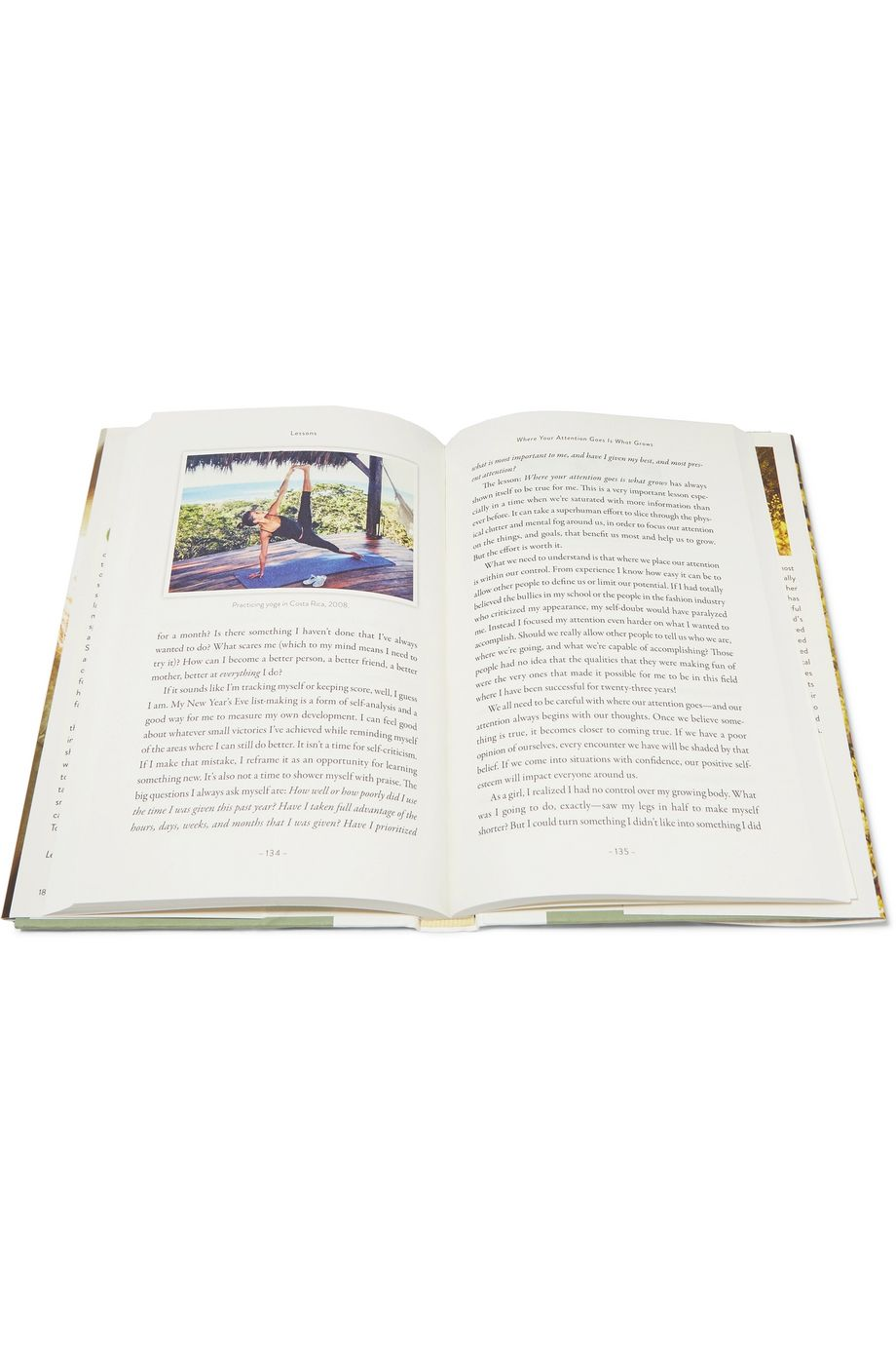GISELE BÜNDCHEN Lessons: My Path to a Meaningful Life by Gisele Bündchen hardcover book