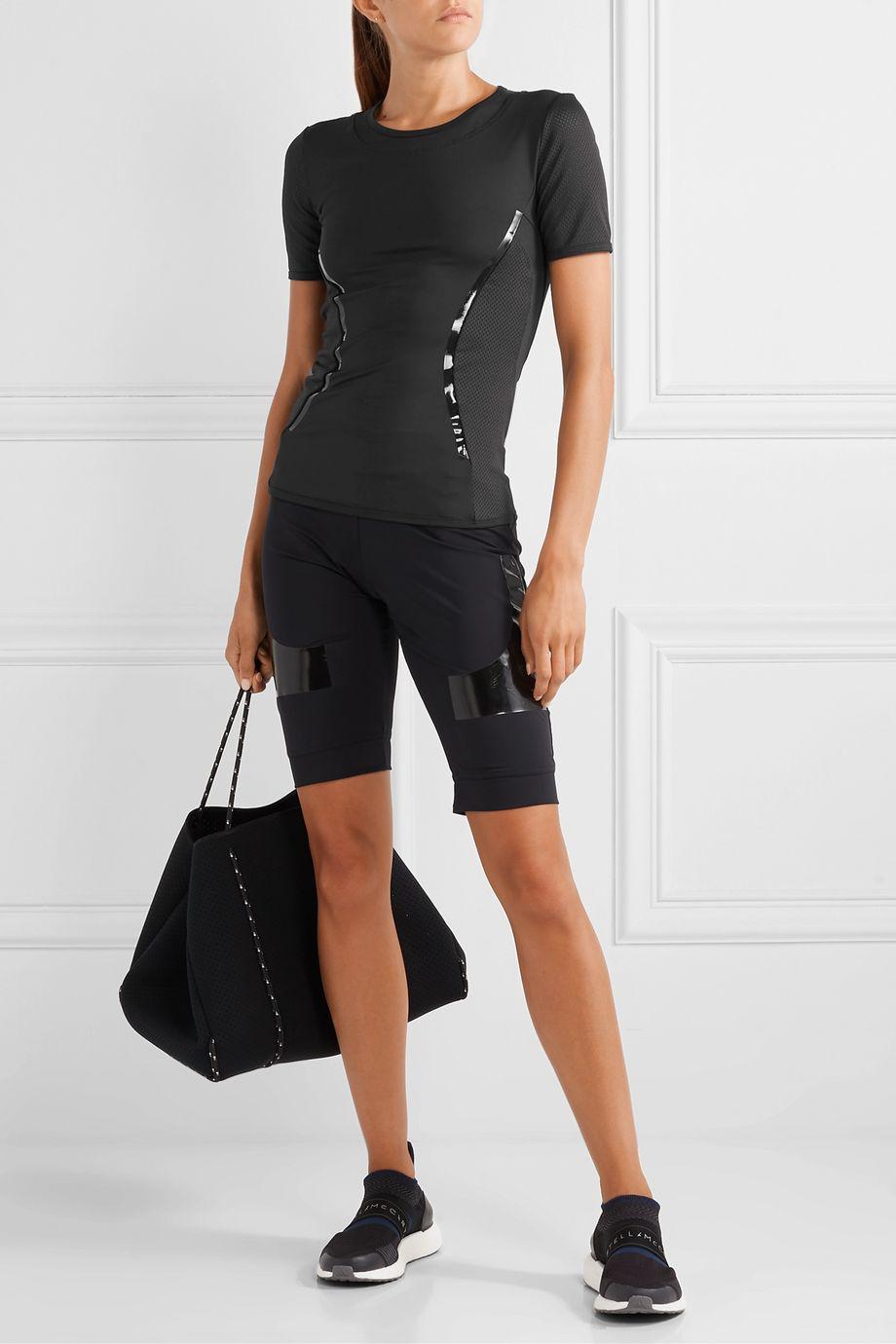 adidas by Stella McCartney Essentials mesh-paneled Climalite T-shirt