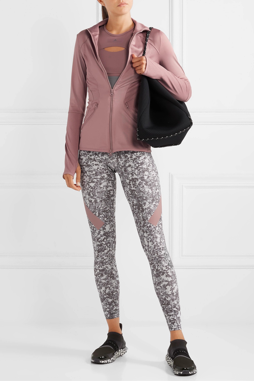adidas by Stella McCartney Essentials mesh-paneled Climalite jacket
