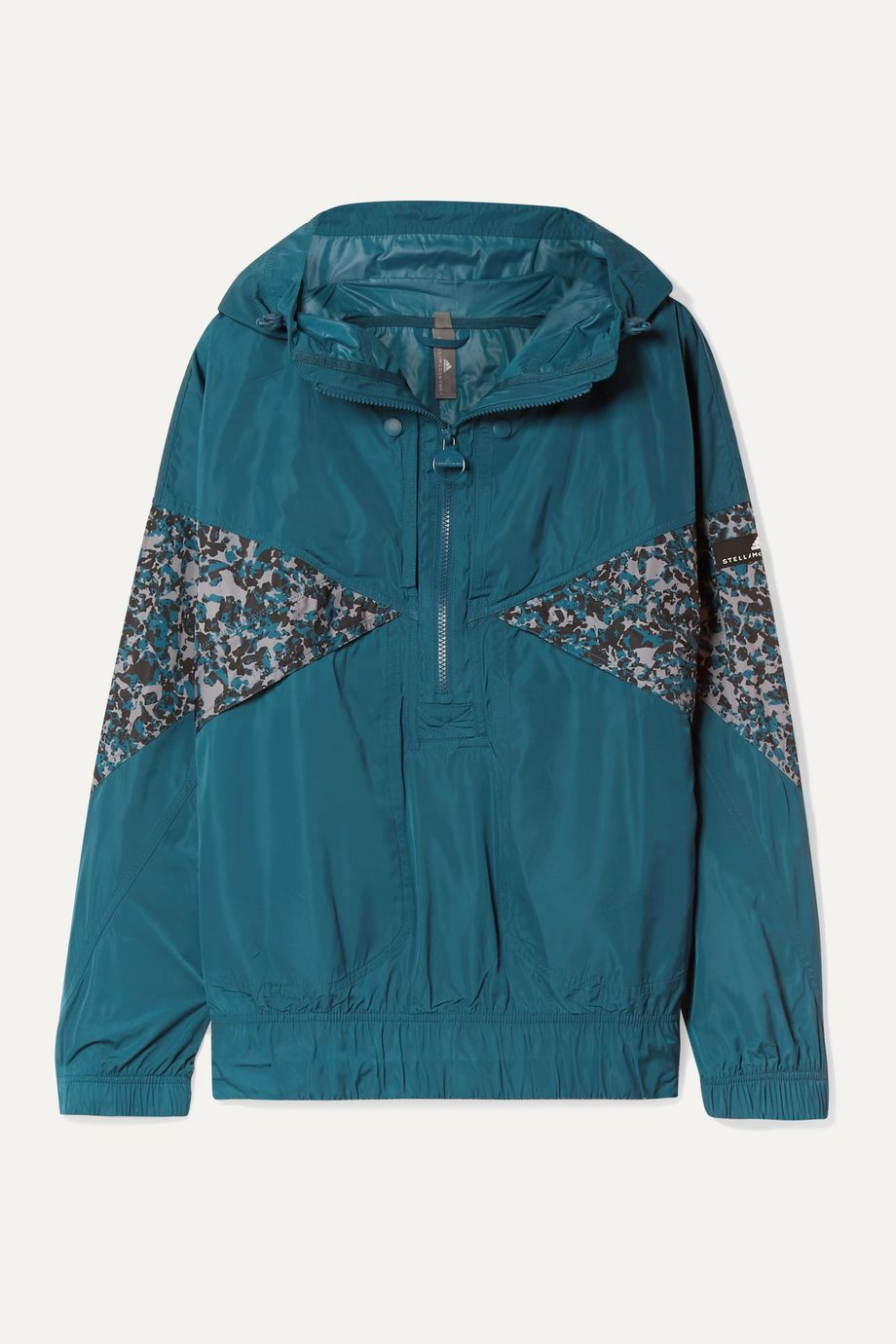 adidas by Stella McCartney Hooded printed shell jacket