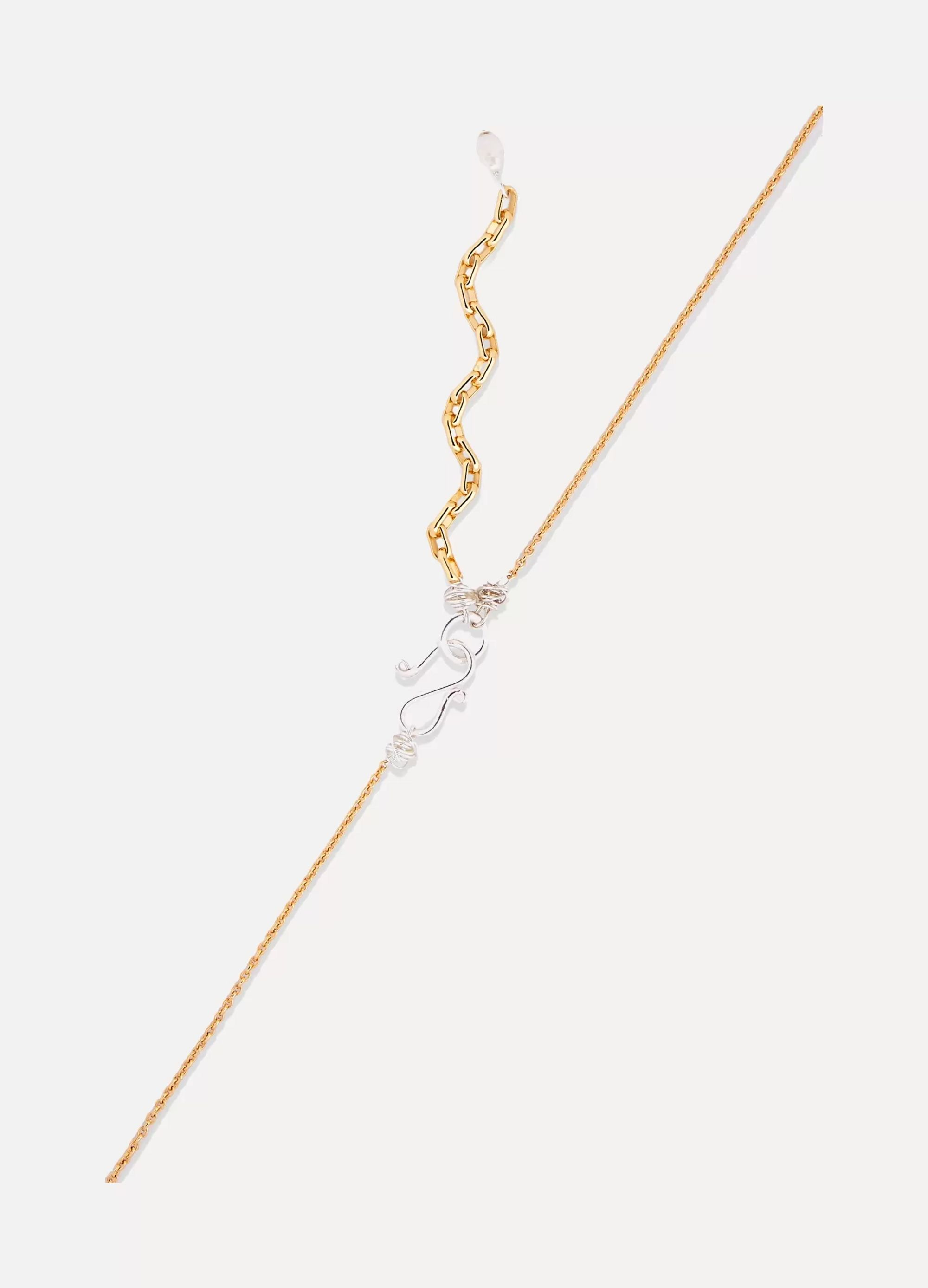 WALD Berlin Just A Friend gold-plated, Swarovski crystal and pearl necklace