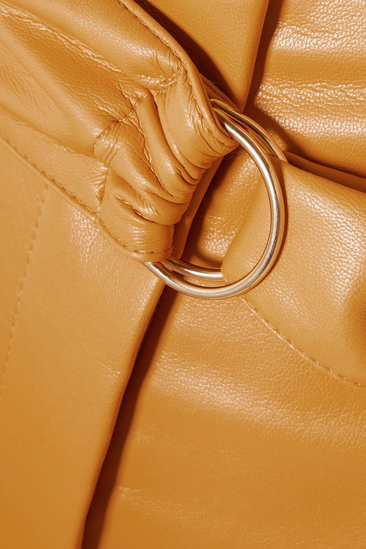 Nanushka Colorado belted vegan leather shorts