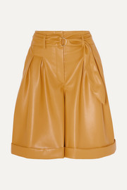 Colorado belted vegan leather shorts