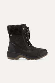 Whistler wool-trimmed waterproof leather ankle boots