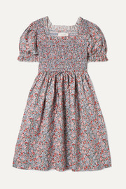 Mini Sol shirred floral-print cotton dress