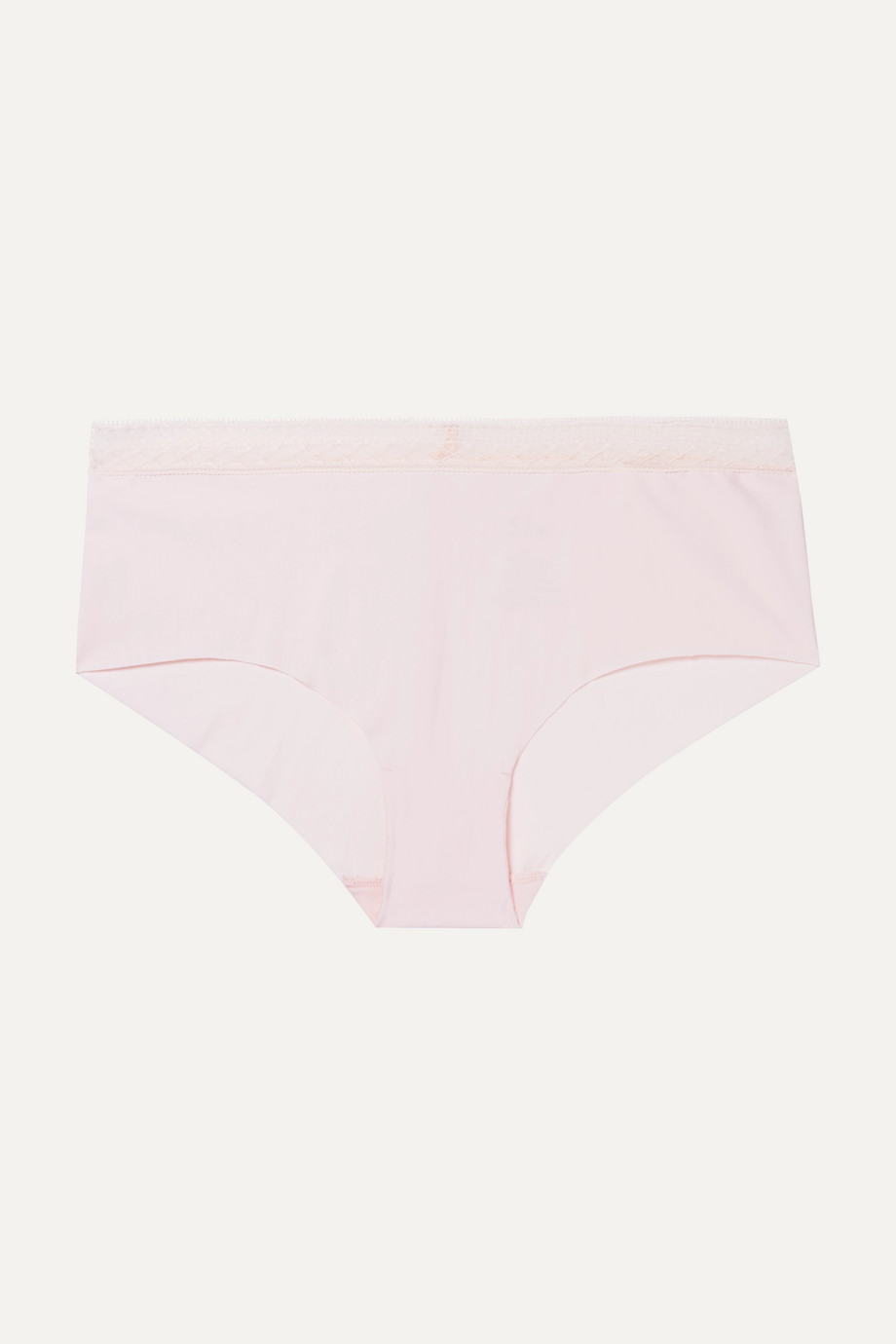 SIX Josephine Leavers lace-trimmed stretch-jersey briefs