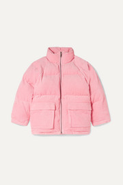 Quilted padded cotton-corduroy jacket